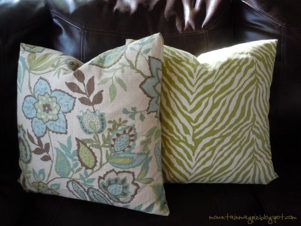 Easy Pillow Covers using Yay! I Made It's Pattern {Gypsy Magpie}