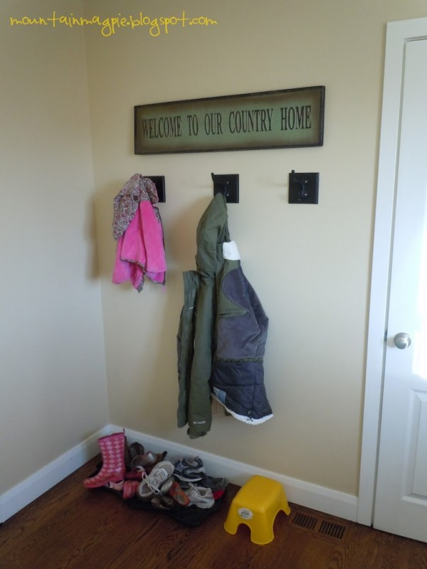 Mudroom Before DIY {Gypsy Magpie}