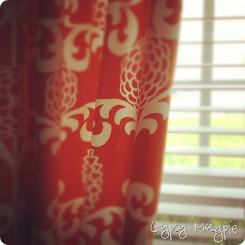 lined curtains {Gypsy Magpie}