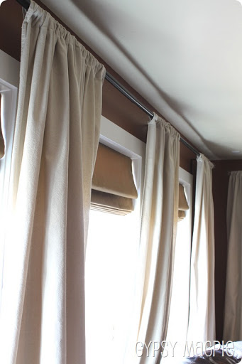 Drop Cloth Curtains {Gypsy Magpie}