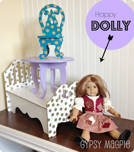 Semi Homemade Doll Furniture {Gypsy Magpie}