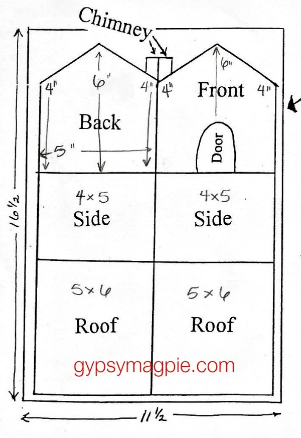 How to make an Old Fashioned Gingerbread House Pattern {Gypsy Magpie}