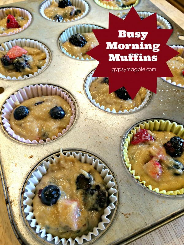 Busy Morning Muffins {Gypsy Magpie}