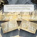 Hand-painted Wedding Signs using Weatherwood Stain for that Old Wood Look {Gypsy Magpie}