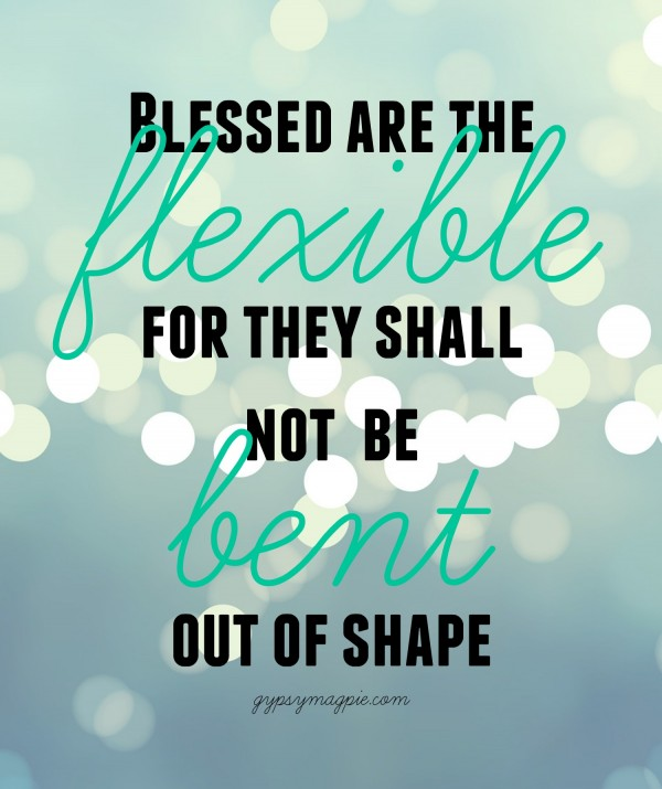Blessed are the Flexible... what I learned from 30 Days of Yoga {Gypsy Magpie}