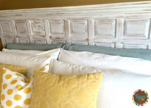 A Custom Headboard from a Vintage Courthouse Wall Panel {Gypsy Magpie}