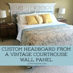 Custom Headboard from a Vintage Courthouse Wall Panel {Gypsy Magpie}