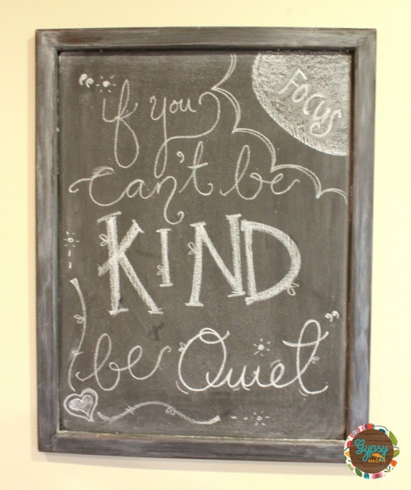 Kindness Chalk Board Art... October Family Focus: Kindness {Gypsy Magpie}
