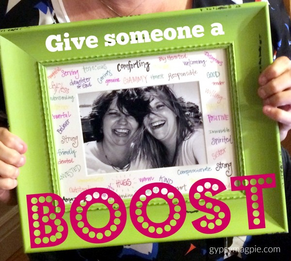 Give someone you love a Boost this Christmas by sharing the gifts you see in them