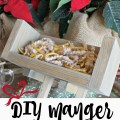 Create a DIY manger and then fill it with service for Baby Jesus! A simple, inexpensive family project to celebrate the true meaning of Christmas | Gypsy Magpie