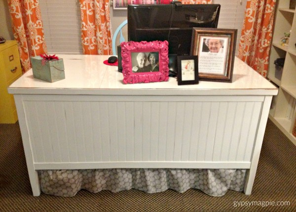 Banker's Desk, the makeover before the real makeover | Gypsy Magpie