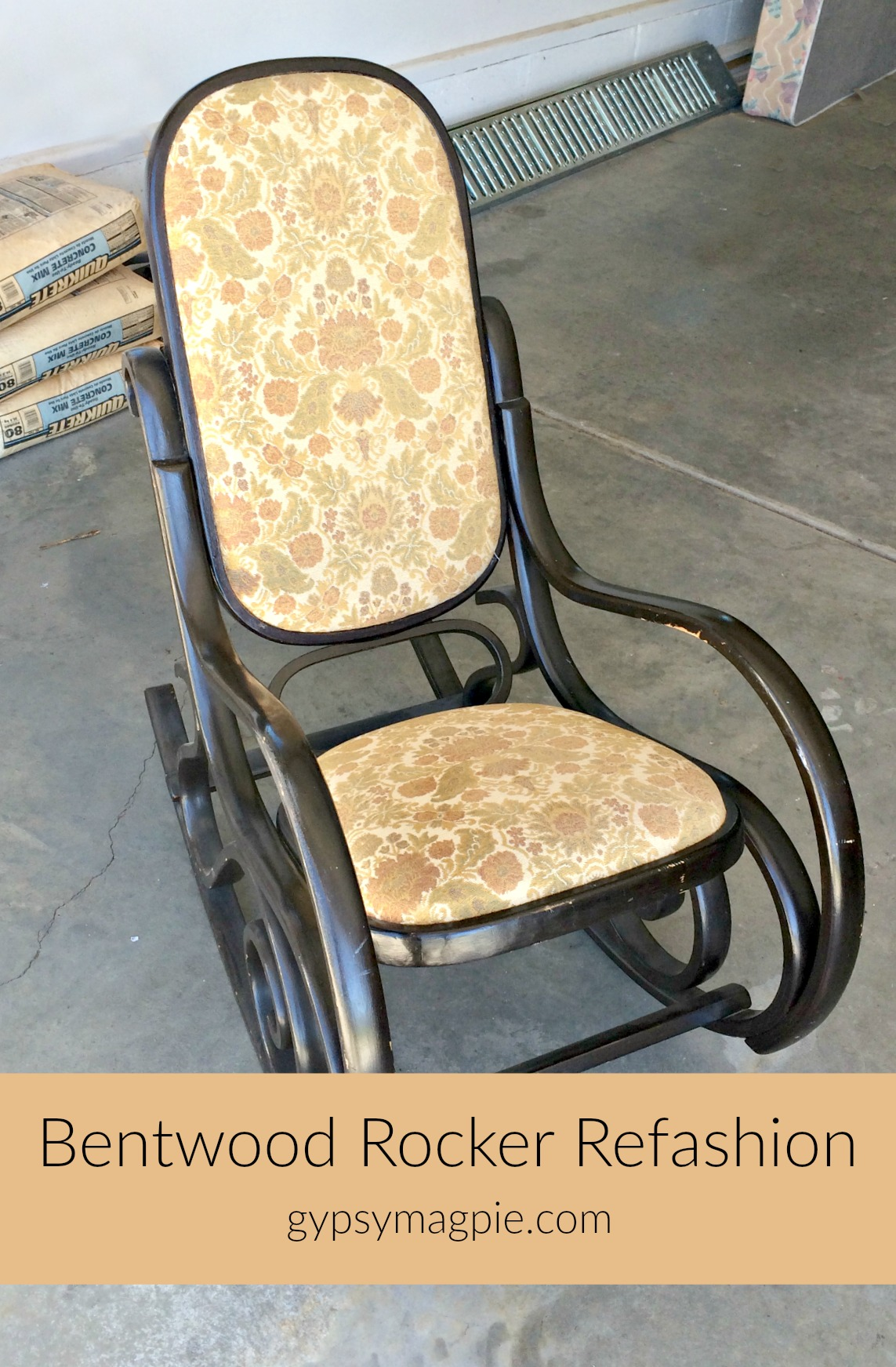 Do you have an old forgotten Bentwood rocker? Come and see how this one was given new life and new purpose! | Gypsy Magpie