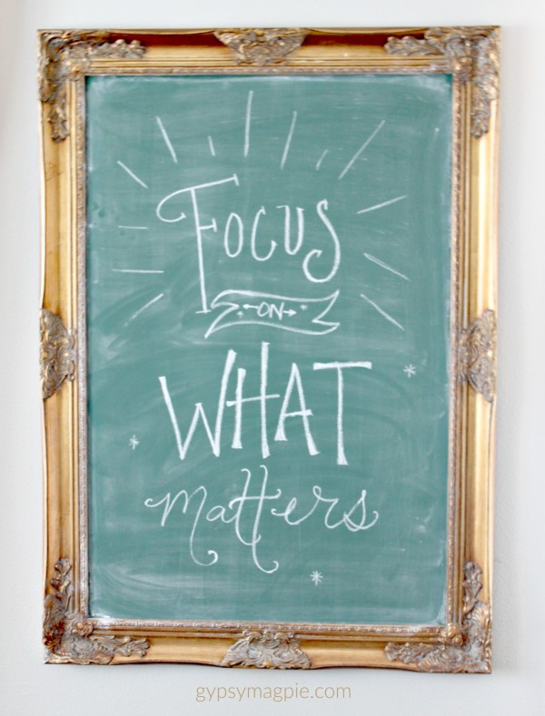 Focus on What Matters... Focus, my one word for 2016 | Gypsy Magpie