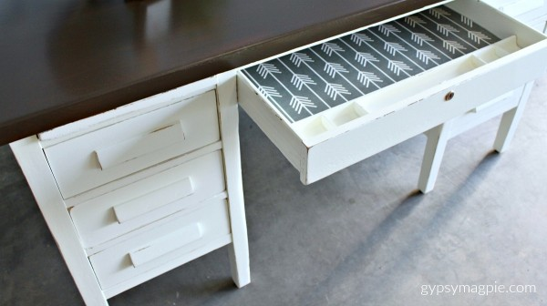 Simply White Banker's Desk Makeover | Gypsy Magpie