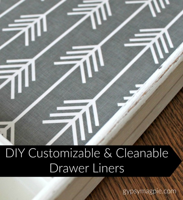 DIY Customizable & Cleanable Drawer Liners