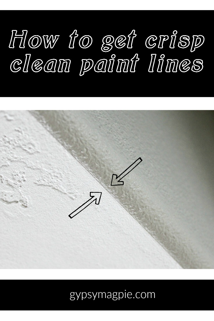 How to get crisp, clean paint lines | Gypsy Magpie