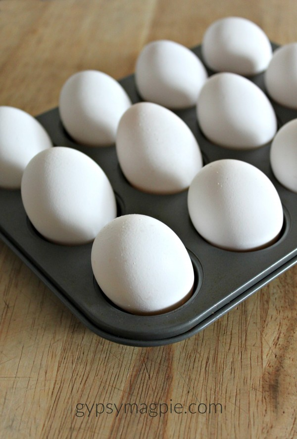 Hard cooking eggs in the oven | Gypsy Magpie