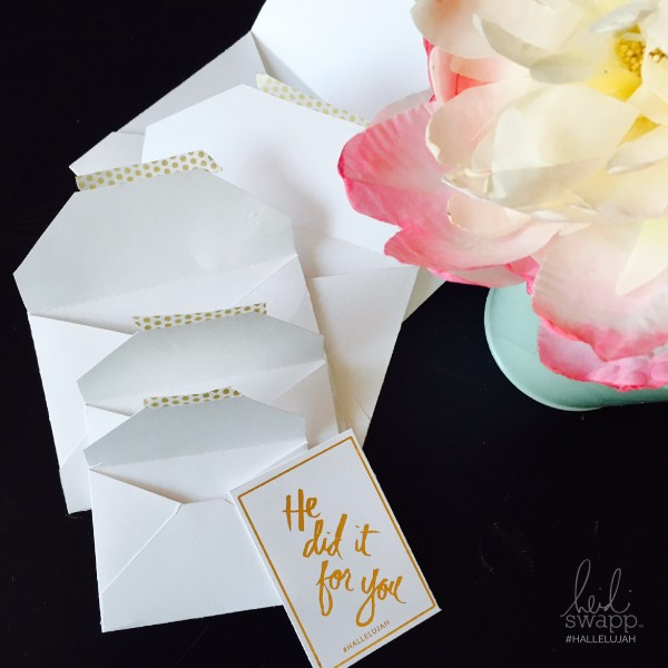 #hallelujah Envelopes from Heidi Swapp