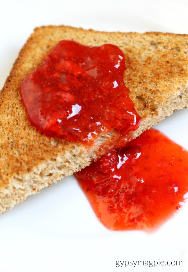 Who's hungry for Strawberry Freezer Jam? Here's all the details on how to make your own! | Gypsy Magpie