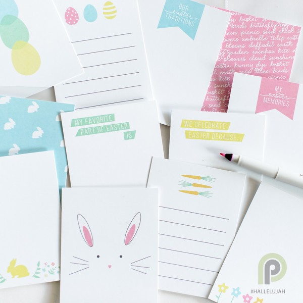Easter journaling cards by Persnickety Prints