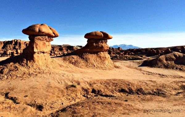 In the Valley of the Goblins at Goblin Valley State Park in Utah | Gypsy Magpie