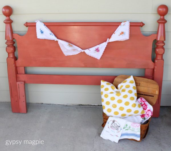 I'm loving this headboard painted in Sweet Pickins Completely Coral! | Gypsy Magpie