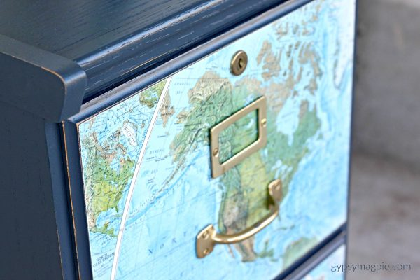 Great hardware, navy blue, and a map. What could be better? | Gypsy Magpie