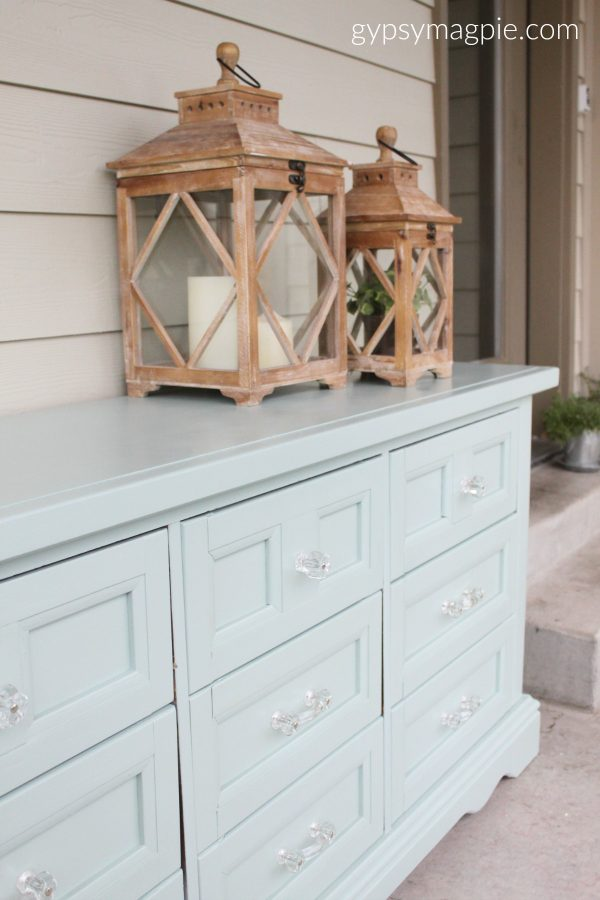 Adorable dresser hand painted in Wyeth Blue | Gypsy Magpie