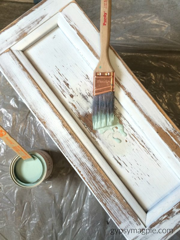 Handpainting an old dresser with Wyeth Blue | Gypsy Magpie