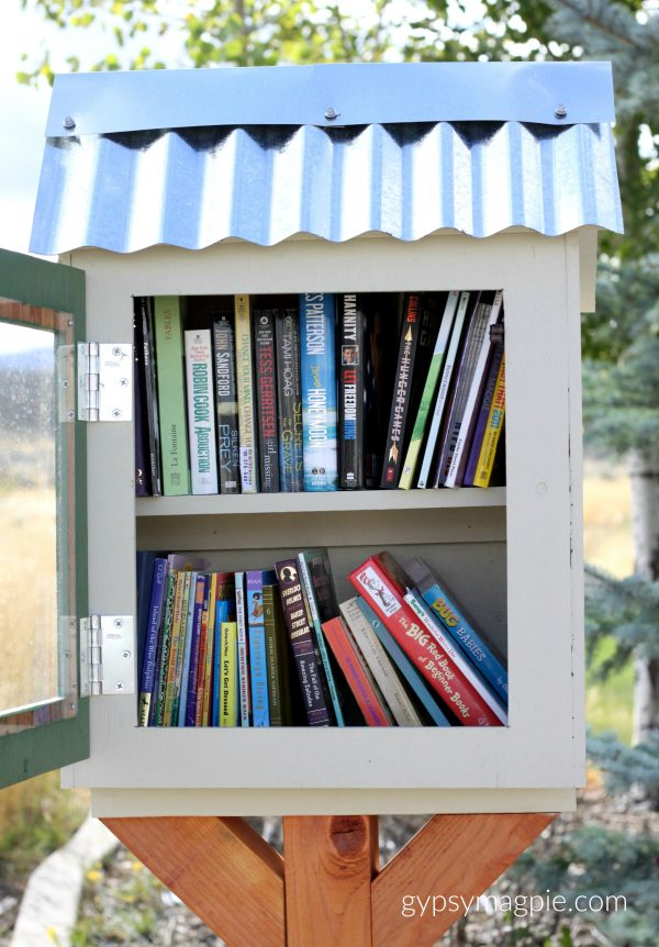 Stacks of Books in a Little Free Library | Gypsy Magpie