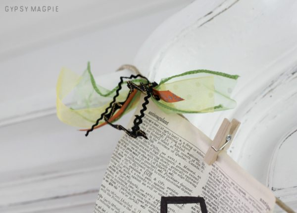 Save those ribbon scraps! You can use them on this simple, inexpensive pennant banner. | Gypsy Magpie