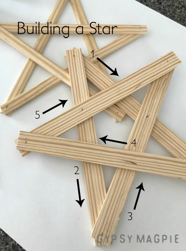 Diagram of a DIY Christmas Star