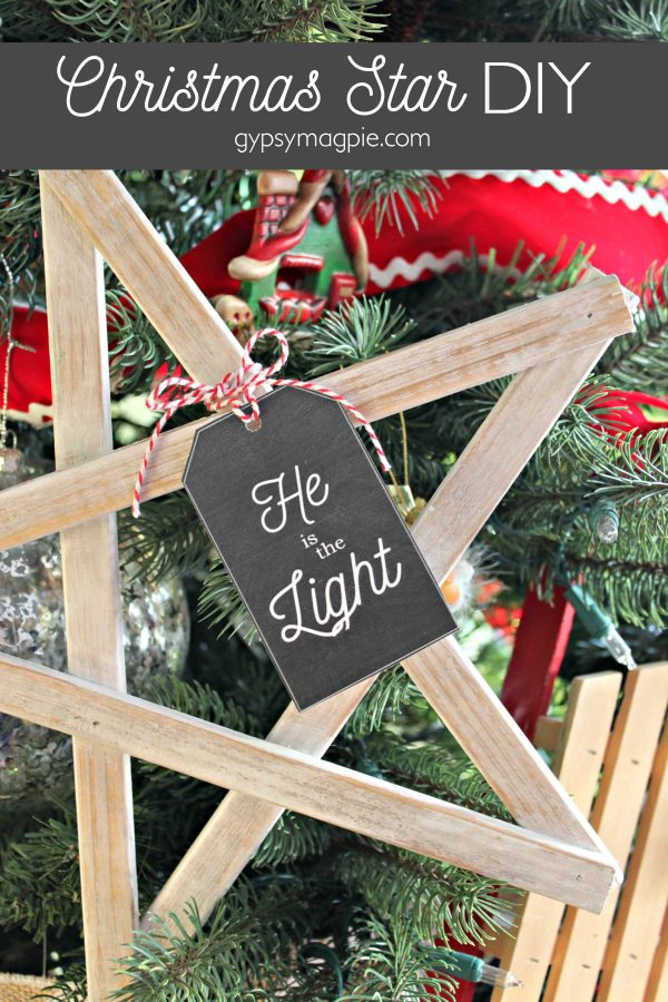 Christmas Star DIY plus Free Printable Gift Tag to Light the World this Christmas!
