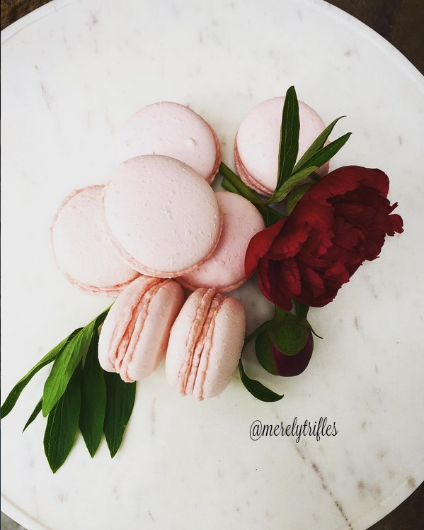 Raspberry Macarons made by Melissa of Merely Trifles