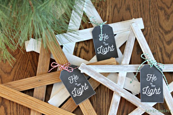 These simple Christmas Stars were so easy to build and make the cutest Christmas gifts!