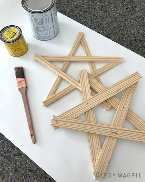 Staining and Painting Christmas Stars