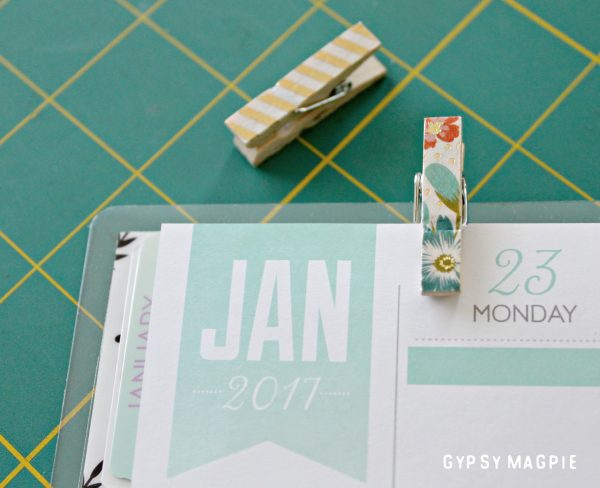 Got 5 minutes? Make a washi tape bookmark for your planner! So simple, inexpensive, and completely customizable! | Gypsy Magpie
