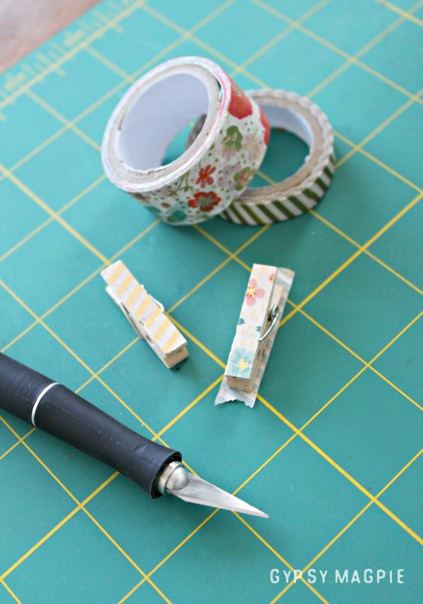 Supplies for a 5 minute washi tape bookmark | Gypsy Magpie