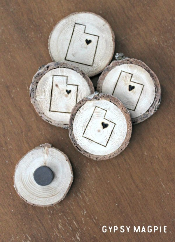 Aren't these wood slice magnets beUTAHful! | Gypsy Magpie