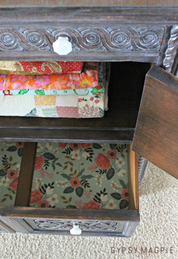 This antique cabinet went from landfill bound to beautiful! | Gypsy Magpie