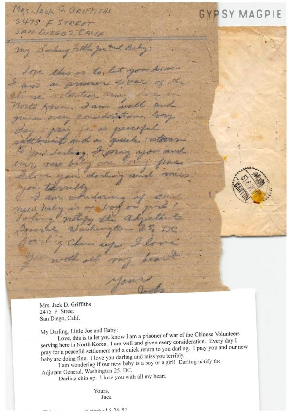 Letters home from a Korean War POW | Gypsy Magpie