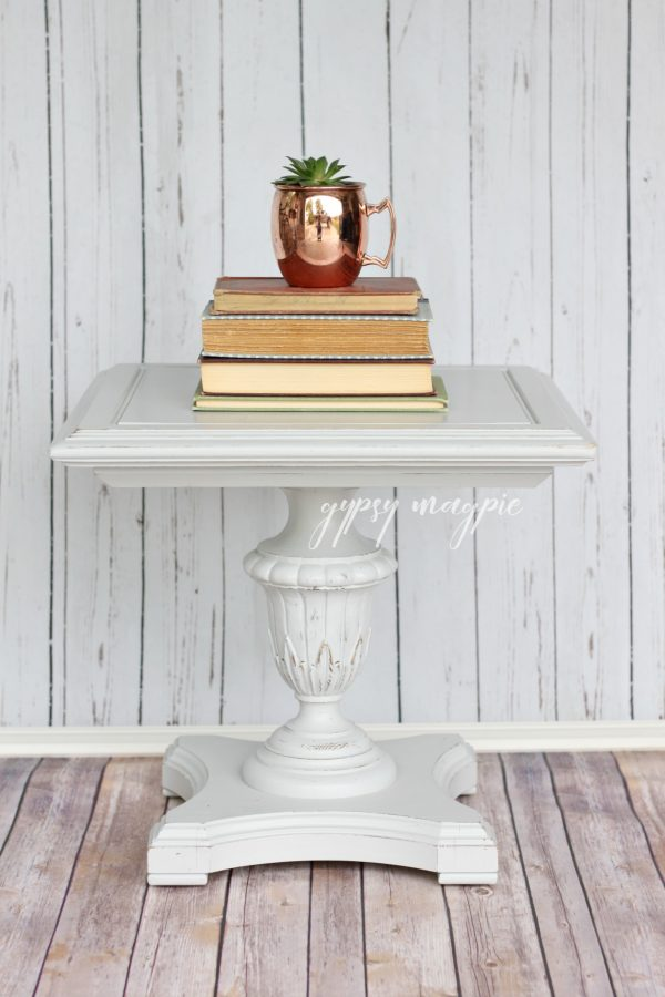 Darling little Seagull Gray side table | Gypsy Magpie