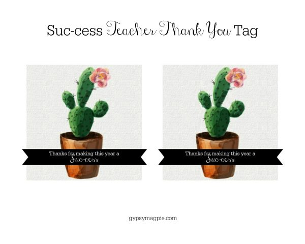 This cute little Suc-cess Teacher Thank You Gift is darling, simple, and fast!