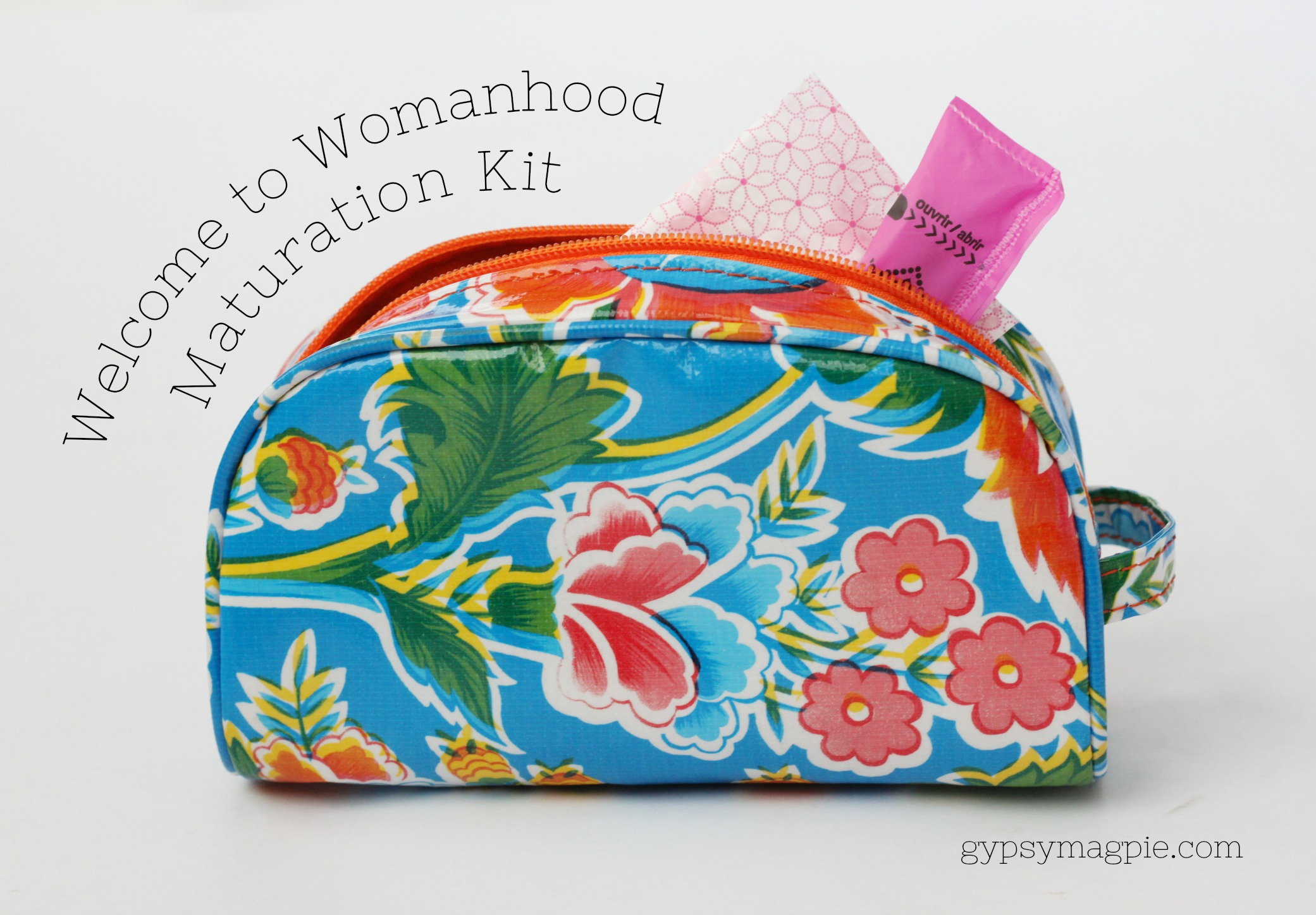 Welcome your daughter to womanhood with this simple kit and a long talk. It doesn't have to be scary or awkward, I promise! | Gypsy Magpie