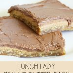 Delicious and Rich Lunch Lady Peanut Butter Bars! | Gypsy Magpie