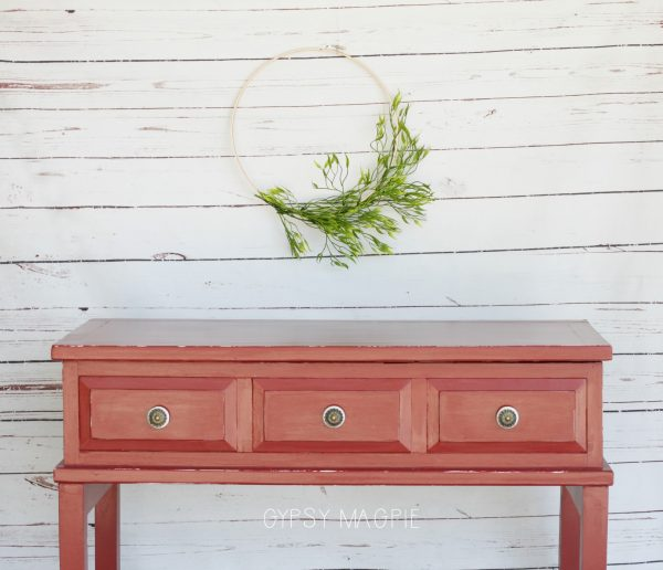Tuscan Red Console Table | Gypsy Magpie