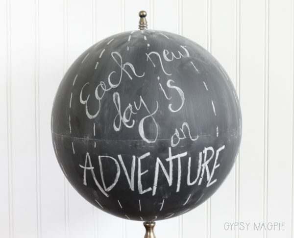 This chalkboard globe is so handy! Perfect for parties, booth signage, and home decor! | Gypsy Magpie