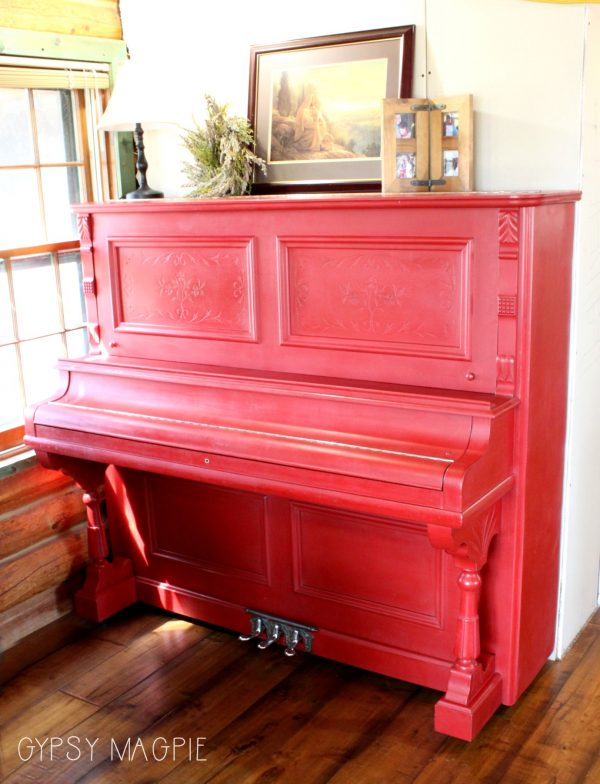 Emperor's Silk Red Painted Piano | Gypsy Magpie