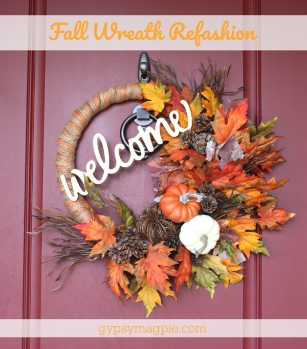 Fall wreath refashion | Gypsy Magpie