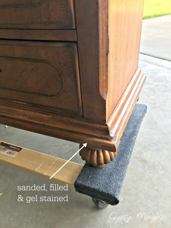 Come see how this chewed up nightstand looks now! | Gypsy Magpie